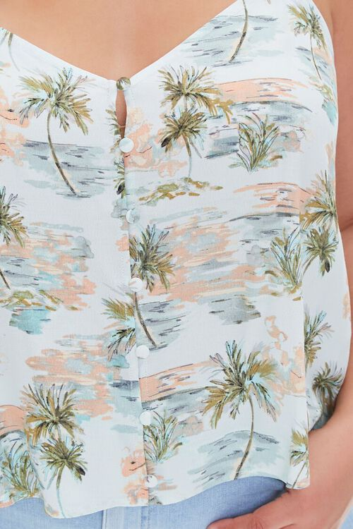 Plus Size Tropical Print Cami, image 5