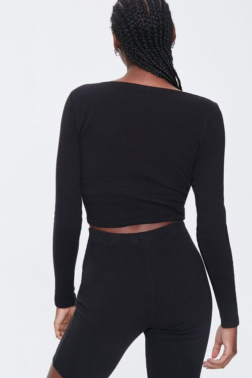 Ribbed Twist-Front Top, image 3