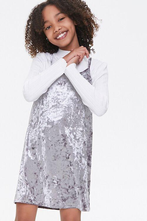 Girls Velvet Cami Dress (Kids), image 1