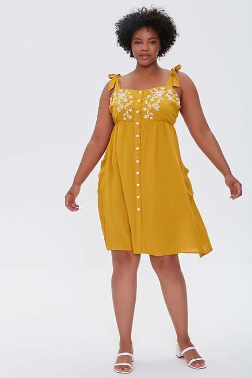 Plus Size Embroidered Floral Mini Dress, image 4