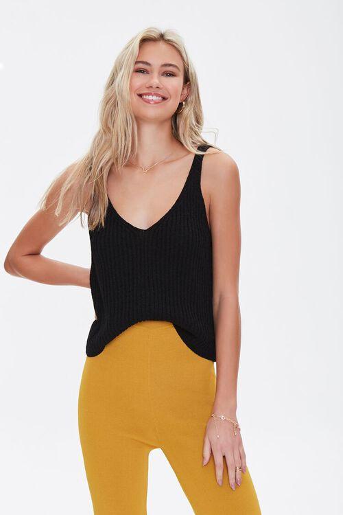 Sweater-Knit Tank Top, image 1