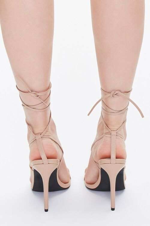 Strappy Toe-Thong Stiletto Heels, image 3