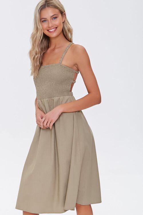 Smocked Caged-Back Dress, image 5