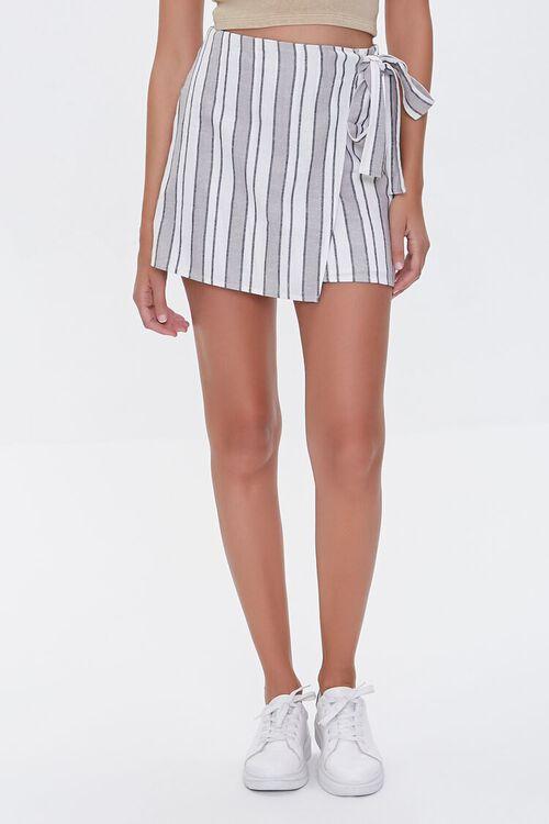 Linen-Blend Striped Skirt, image 2