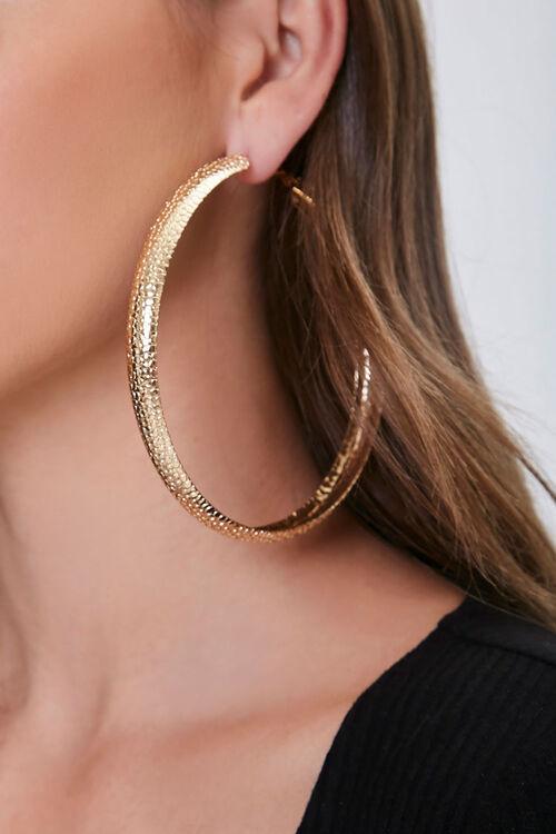 Pebbled Hoop Earrings, image 1