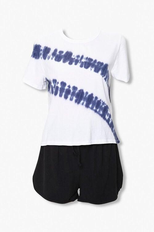 Tie-Dye Tee & Dolphin Shorts Set, image 1