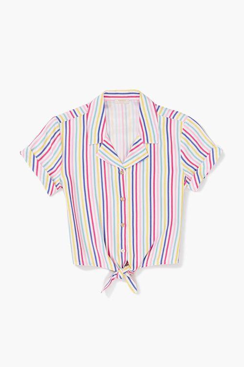 Girls Knotted Striped Shirt (Kids), image 1