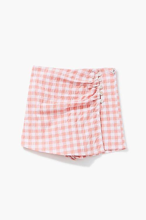 Girls Gingham Button-Front Skort (Kids), image 1