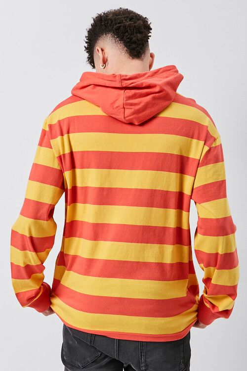 Bold Striped Hooded Pullover, image 3