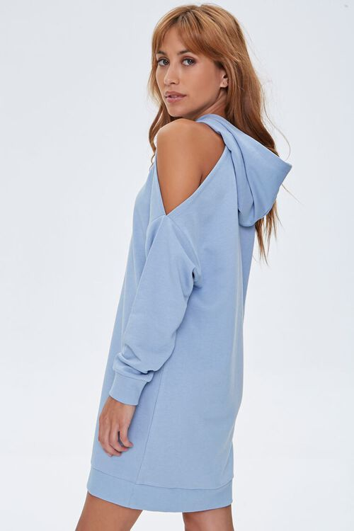 Open-Shoulder Hoodie Dress, image 2