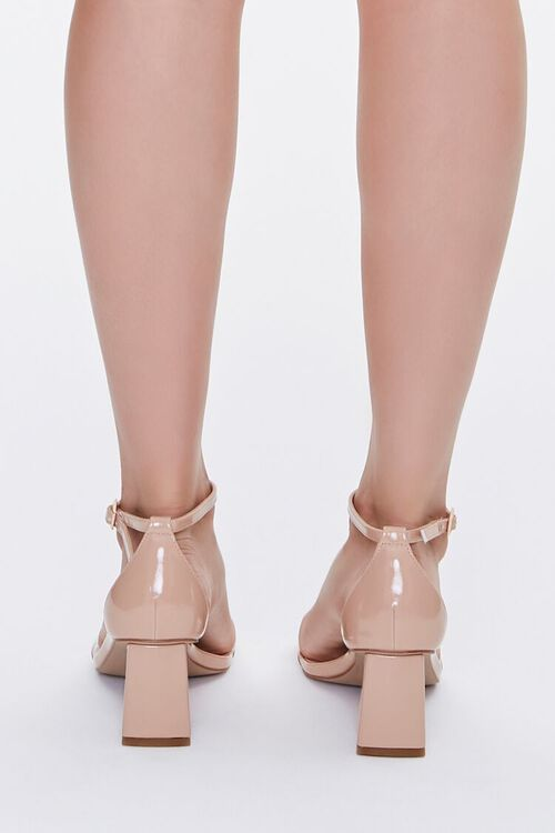 Faux Patent Leather Block Heels, image 3