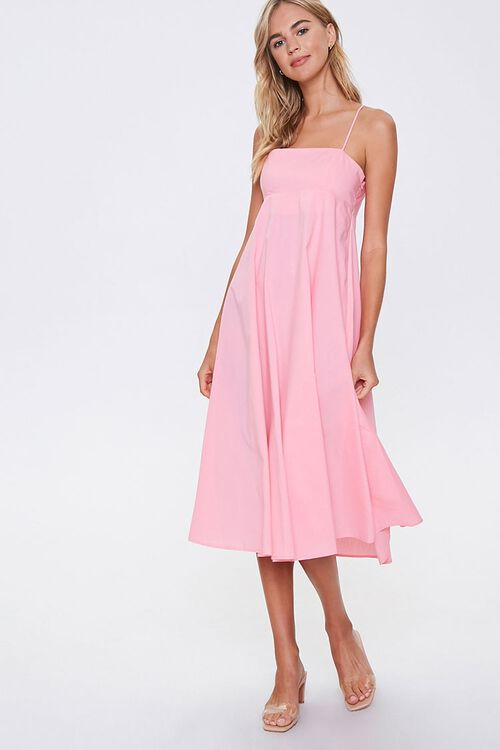 PINK Strappy-Back Cami Dress, image 1