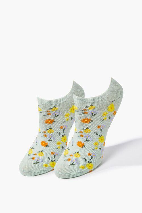 Floral Print Ankle Socks, image 1