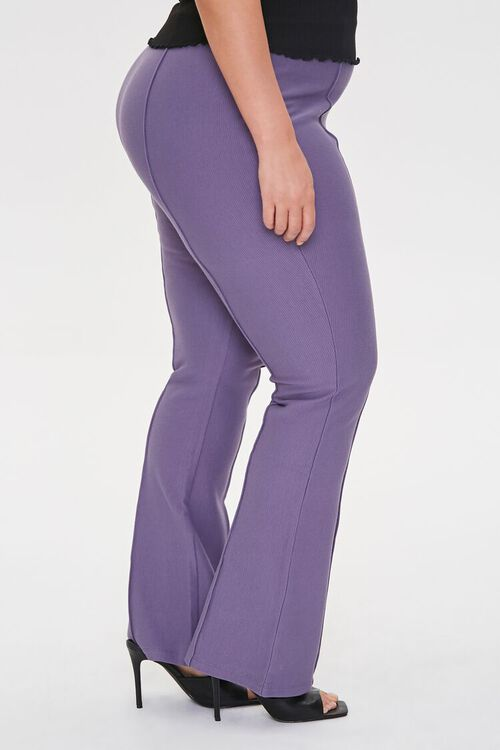 Plus Size Seamed Flare Pants, image 3