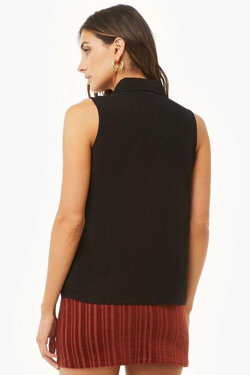 Sleeveless Tie-Neck Shirt, image 3