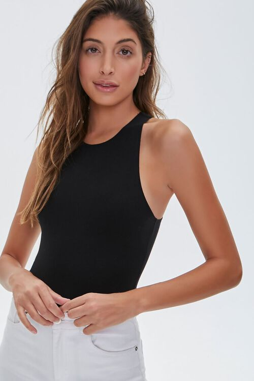 Sleeveless Stretch Bodysuit, image 1