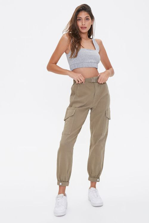 Heathered Knit Crop Top, image 4