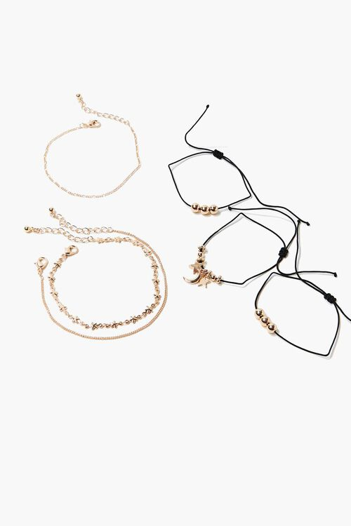 Moon & Star Charm Bracelet Set, image 1