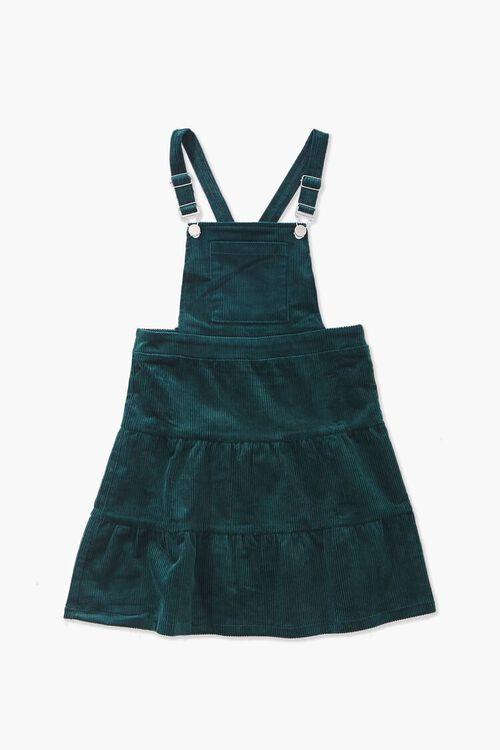GREEN Girls Corduroy Overall Dress (Kids), image 1