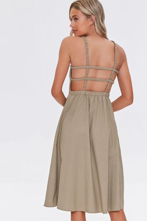Smocked Caged-Back Dress, image 3