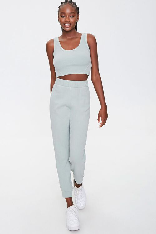 Cropped Tank Top & Joggers Set, image 1