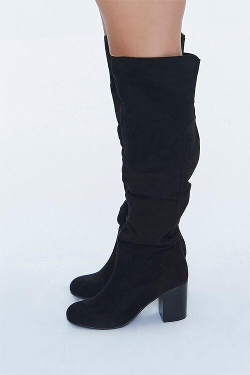Faux Suede Knee-High Boots (Wide), image 2