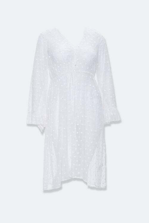 Plus Size Clip Dot Lace Kimono, image 4