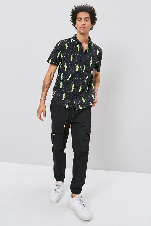 Classic Fit Cactus Print Shirt, image 4