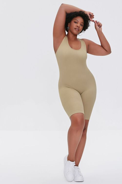 SAGE Plus Size Sleeveless Fitted Romper, image 4