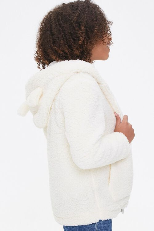 Girls Faux Shearling Zip-Up Hoodie (Kids), image 2