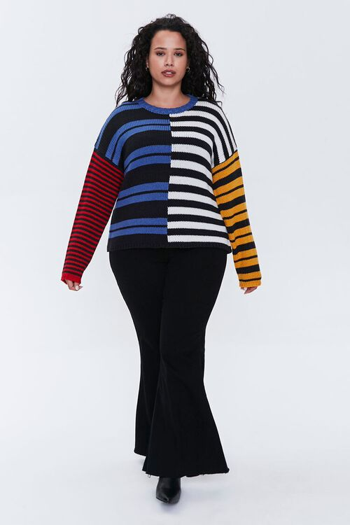 Plus Size Reworked Striped Sweater, image 4