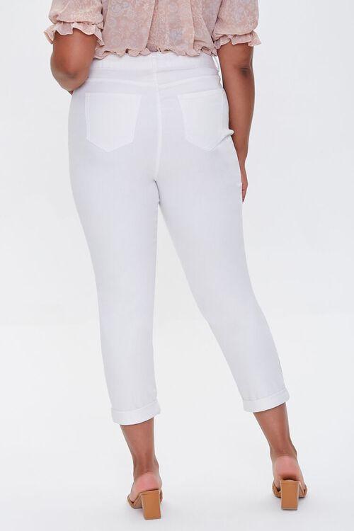 WHITE Plus Size Boyfriend Jeans, image 4