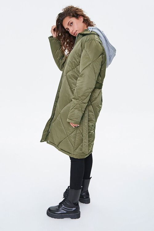 Longline Quilted Puffer Jacket, image 3