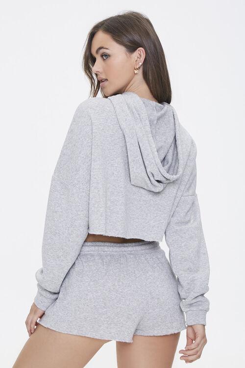 Hooded Heathered Pajama Top, image 3