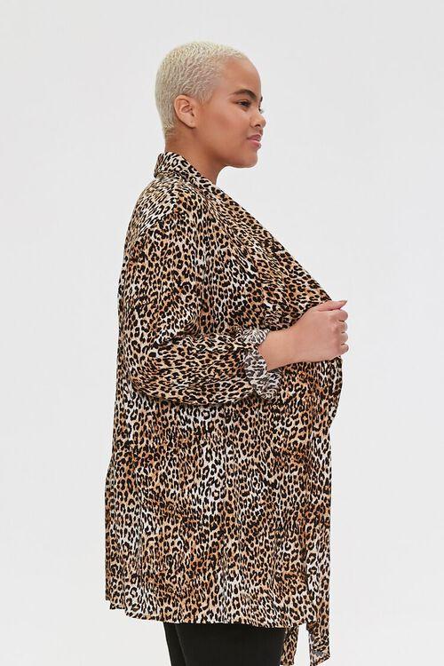 Plus Size Leopard Print Kimono, image 2