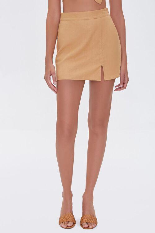 Linen-Blend Skirt, image 2