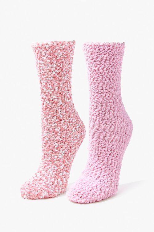 Popcorn Knit Crew Socks Set - 2 Pack, image 1