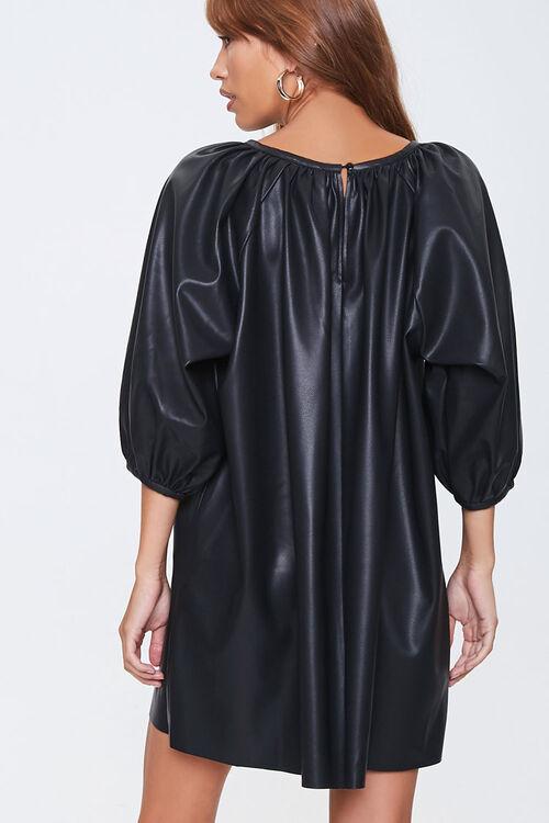 Faux Leather Shift Dress, image 3