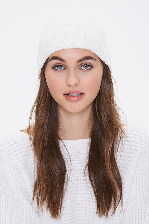 Recycled Rib-Knit Beanie, image 1