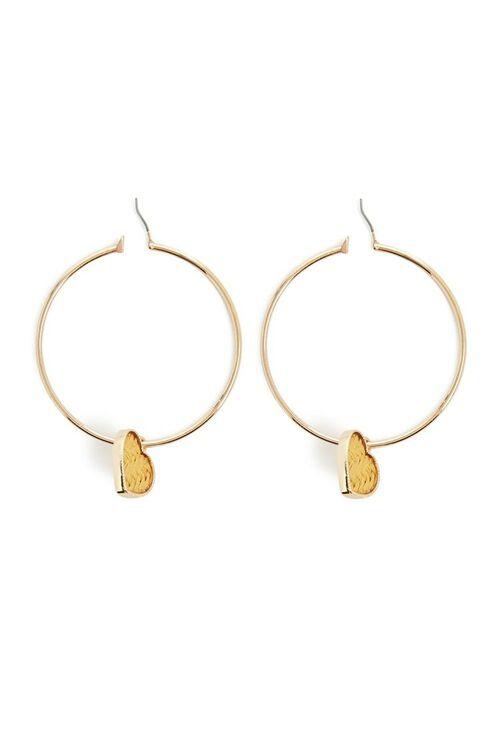 Heart Hoop Earrings, image 2
