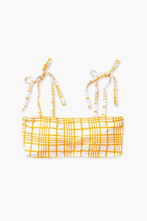 Plus Size Plaid Bikini Top, image 1