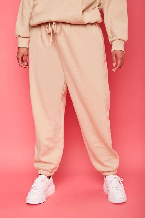 TAN/MULTI Plus Size Juicy Couture Fleece Joggers, image 3