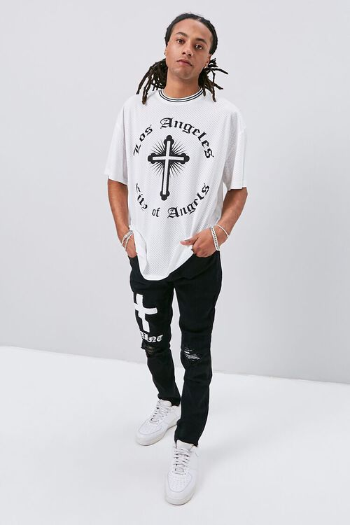 Cross Graphic Skinny Jeans, image 5