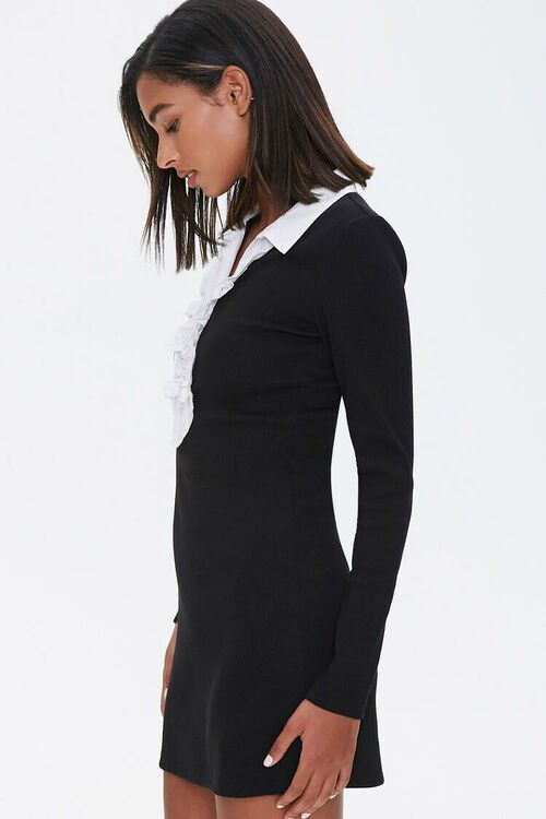 Ruffle-Trim Bodycon Dress, image 2