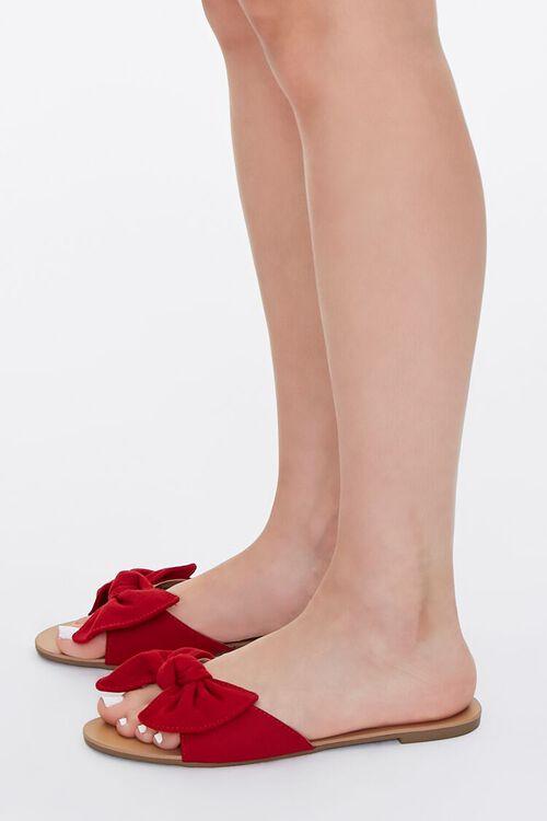 Faux Suede Bow Sandals, image 2