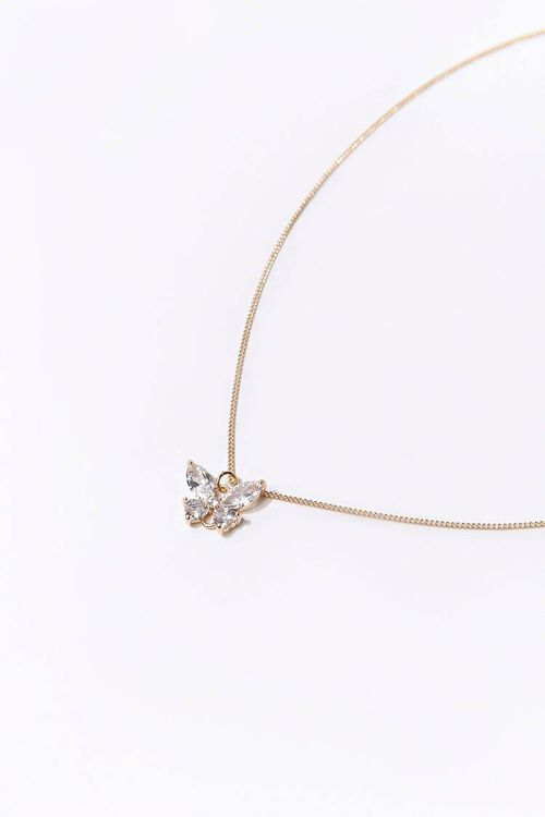 Rhinestone Butterfly Necklace, image 2