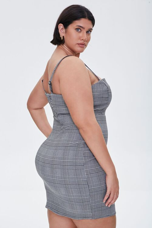 Plus Size Plaid Cami Mini Dress, image 2
