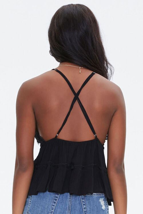 Lace-Trim Tiered Cami, image 3
