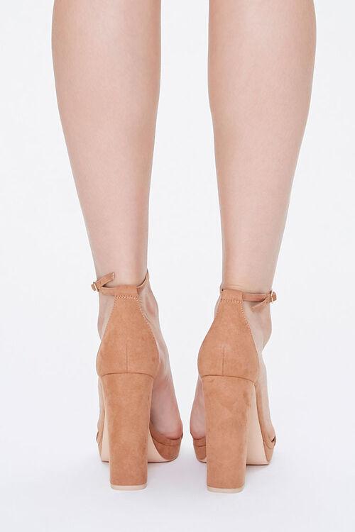 Faux Suede Block Heels, image 3