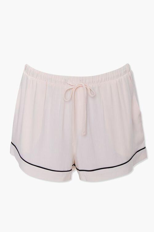 Piped-Trim Shirt & Shorts PJ Set, image 5